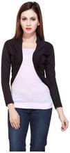 Black Short Full Sleeve Outer For Women