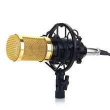 BM-800 Condenser Microphone Sound Recording Dynamic + Mic Shock Mount