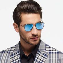 GREY JACK Black Framed Polarized Acqua Square Aviator Sunglasses (Unisex)