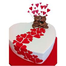Valentines Teddy Cream Cake UNC07