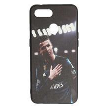 Multicolored Cristiano Ronaldo Printed Mobile Back Cover For Oppo F7