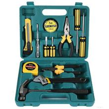 13pcs/set Manual Hardware Tool Kit Screwdriver+Knife+Wire Pliers+Toolbox+Digital Pen with Plastic Toolbox Storage Case