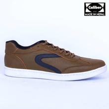 Caliber Shoes Mehendi  Casual Lace Up Shoes For Men - ( 523 O)