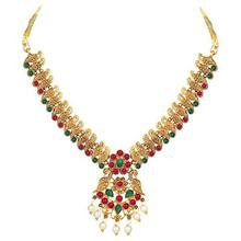 Shining Diva Fashion Latest Combo Design Pearl Necklace