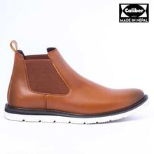 Caliber Shoes Tan Brown Chelsea Boots For Men - (W 481 C )
