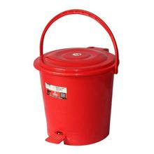 Red Plastic Pedal Dustbin