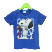 Blue Snoopy Printed T-Shirt For Boys