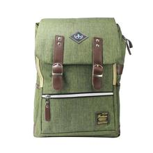 Army Green Multi Zippered Flap Backpack For Women