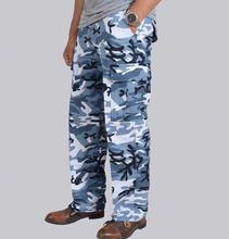 Blue Camouflage Casual Pant For Men