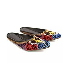 Embroidered Slide Sandals For Women-Black
