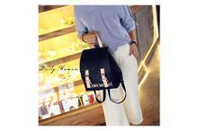 Korean Design PU Leather School Laptop Fashion Backpack-Black (41001736)