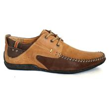 Tawny Brown Lace Up Casual Shoes For Men