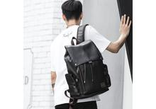 MOYYI Classic Men's Leather Backpack Laptop Bag