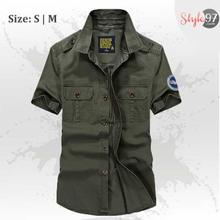 Men Stretch Cotton Casual Shirt