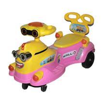 Pink Yellow Rocking Car For Kids