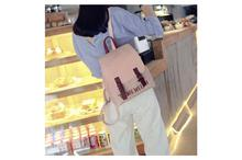 Korean Design PU Leather School Laptop Fashion Backpack-Pink (41001735)