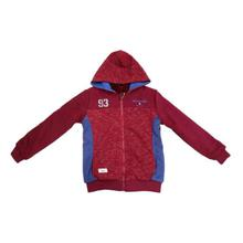 Mixed Cotton Hooded Jacket For Boys