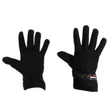 Inner Fur Front Buttoned Rubber Grip Hand Gloves For Men