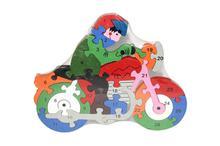 Multicolored Biker Puzzle For Kids