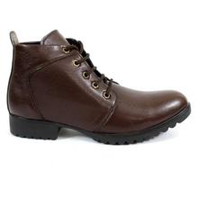 Dark Brown Lace-Up Casual Shoes For Men - 2088