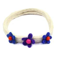 White Floral Designed Hairband For Women