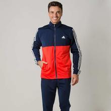 Adidas Navy/Orange Back 2 Basics 3-Stripes Track Suit For Men - BK4090