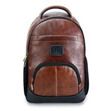 The Clownfish Leatherette 25 Ltr Brown Laptop Backpack