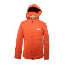 Sketch Long Jacket For Men Orange Color With Hood