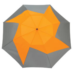 "46"" Vented, Auto Open Folding PinWheel Umbrella-1"
