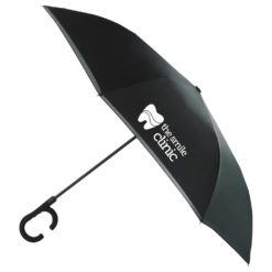 "48"" Inversion Auto Open Umbrella w/ C-Shape Handle-1"