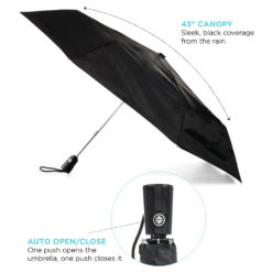 "44"" totes® 3 Section Auto Open/Close Umbrella-1"