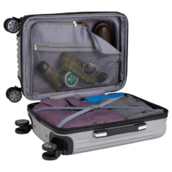 Metallic Upright Expandable Luggage with Tag-1