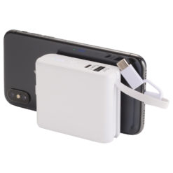 Galaxy 5000 mAh Wireless Powerbank with Cables-1