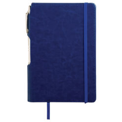 "6"" x 8.5"" Viola Bound Notebook with Pen-1"