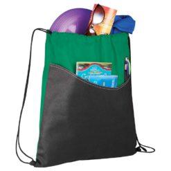 Rivers Non-Woven Drawstring Bag-1