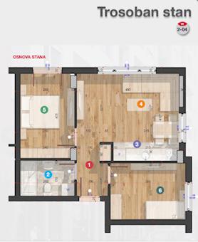 3 tip nekretnine - 45,77 m² - Rotkvarija Residence