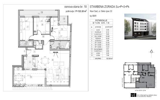 4 tip nekretnine - 123,38 m² - Bele njive