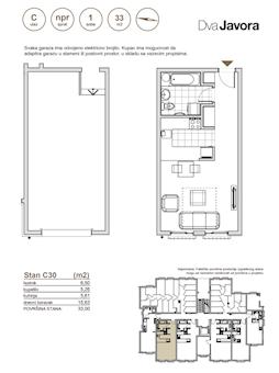0 tip nekretnine - 33 m² - Dva javora