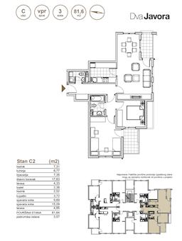 3 tip nekretnine - 81,64 m² - Dva javora