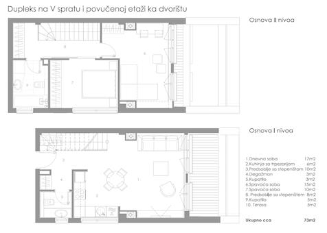 2 tip nekretnine - 73 m² - STAMBENO POSLOVNI OBJEKAT KNEGINJE ZORKE 28