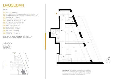 2 tip nekretnine - 66,23 m² - East Side