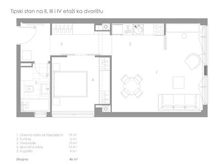 1 tip nekretnine - 46 m² - STAMBENO POSLOVNI OBJEKAT KNEGINJE ZORKE 28