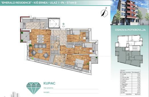 3 tip nekretnine - 84,05 m² - Emerald Residence 2