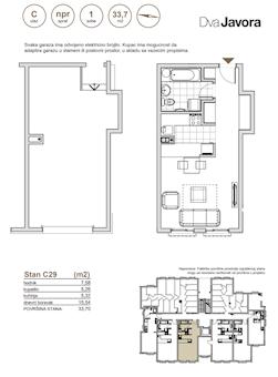 0 tip nekretnine - 33,7 m² - Dva javora