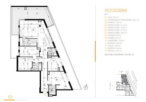 5 tip nekretnine - 164,62 m² - East Side