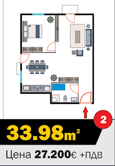 1 tip nekretnine - 33,98 m² - Kralja Petra