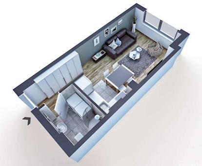 1 tip nekretnine - 29 m² - Paunov Breg