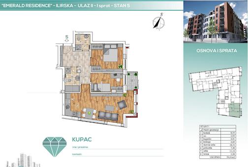2 tip nekretnine - 59,61 m² - Emerald Residence 1