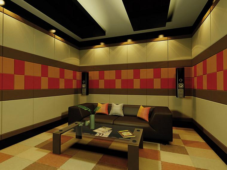 สร้างแพทเทิร์นสวยด้วยสีสันสดใส ในห้องโฮมเธียเตอร์