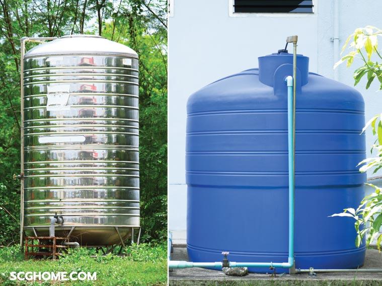 ถังเก็บน้ำบนดิน ถังเก็บน้ำพลาสติก ถังเก็บน้ำในบ้าน ถังเก็บน้ำสเตนเลส